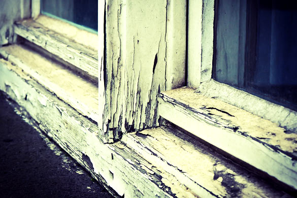 Weathered window frame need to replace