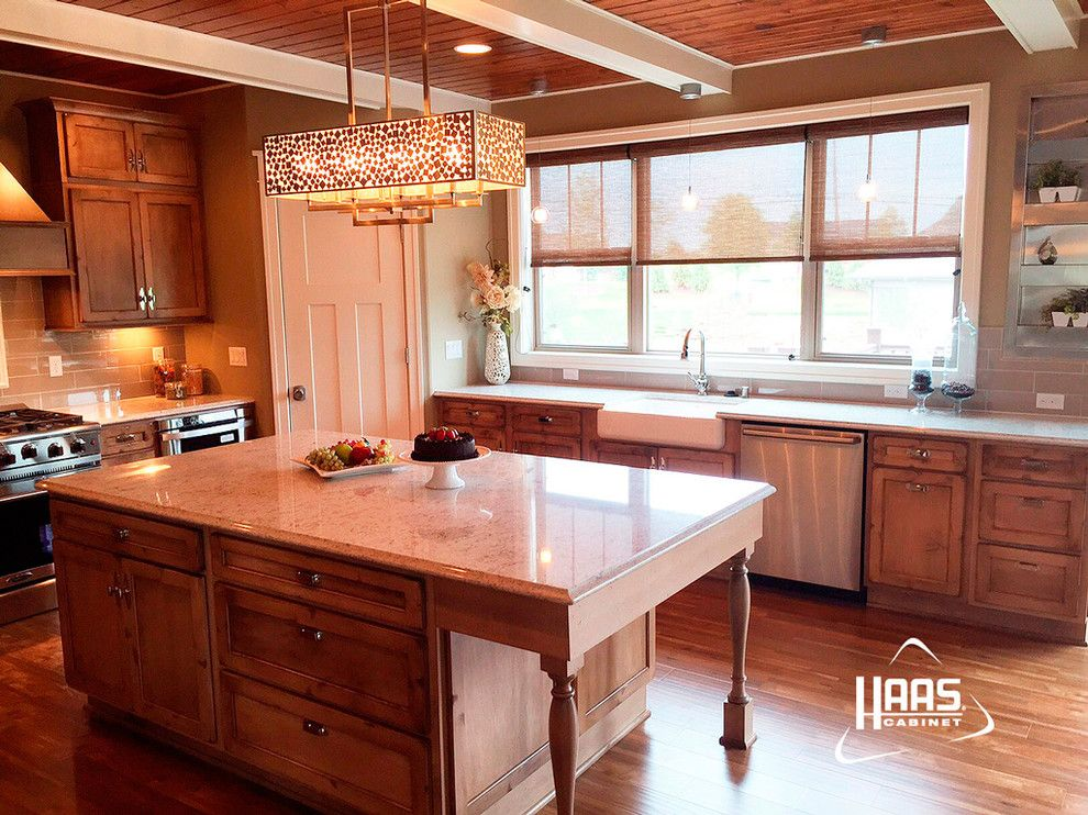 Haas Cabinets For A Rustic Kitchen With And Cottage