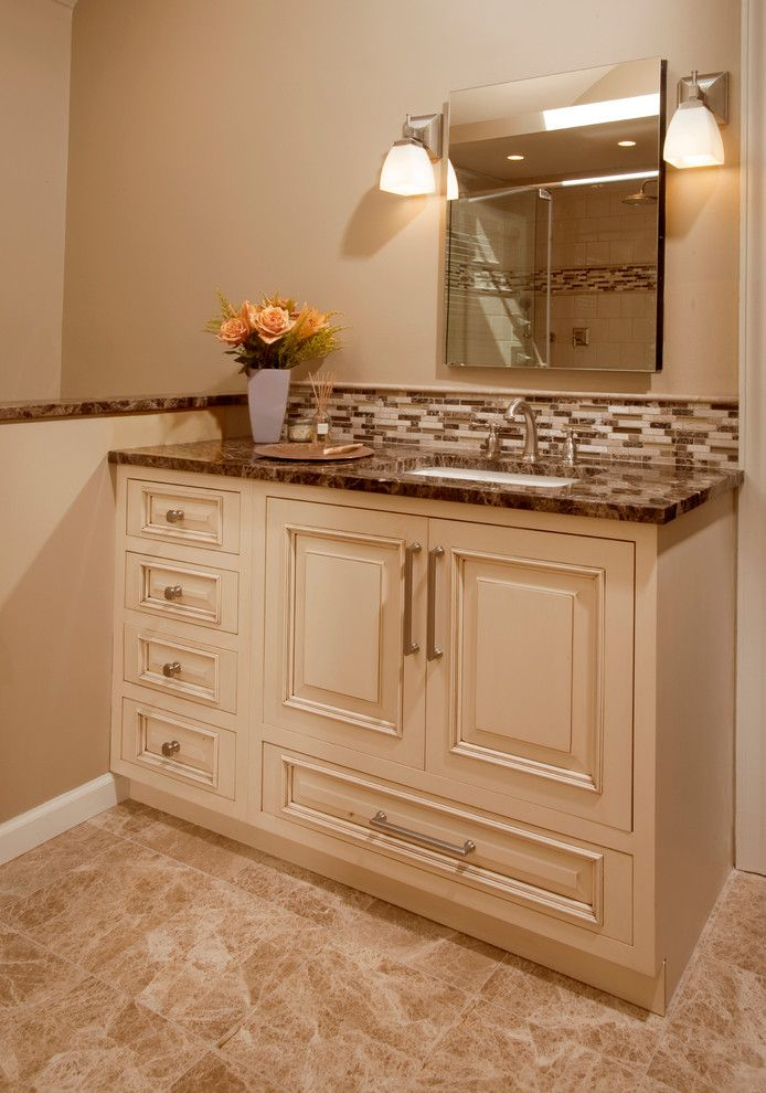 Mastercraft Cabinets For A Transitional Kitchen With White