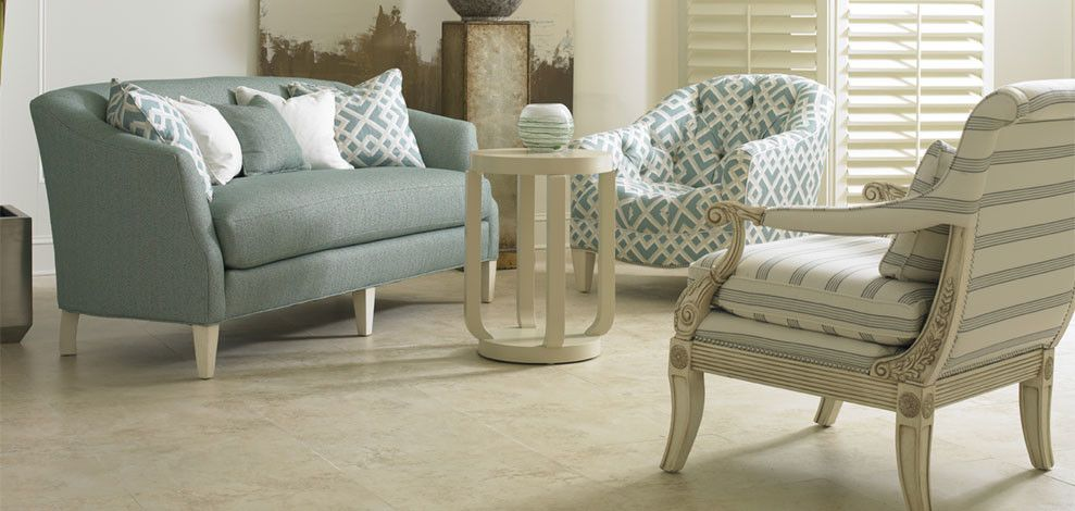 Sherrill Furniture For A Transitional Living Room With Warm And