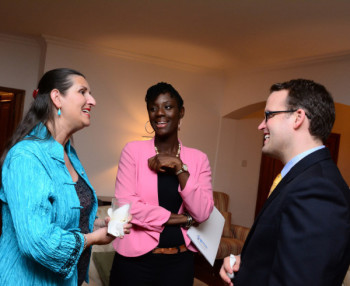 Fiona Uden, Beverley Okoye- Deputy Director UKTI, Chris Maskell – Director UKTI