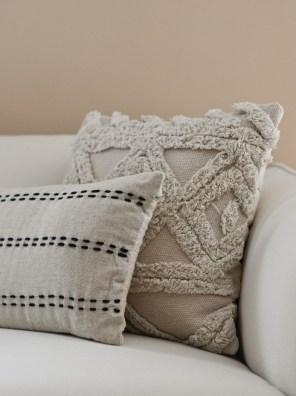 zara cushion on Salerno sofa