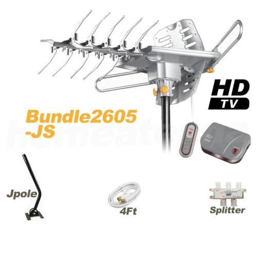 HD-2605 Antenna + Splitter + J-Pole Bundle Package-0