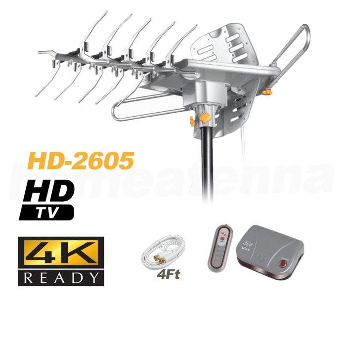 [Open Box] LAVA HD2605 4K Ultra Remote Controlled HD TV 150 mile range Antenna with G3 Control Box-0