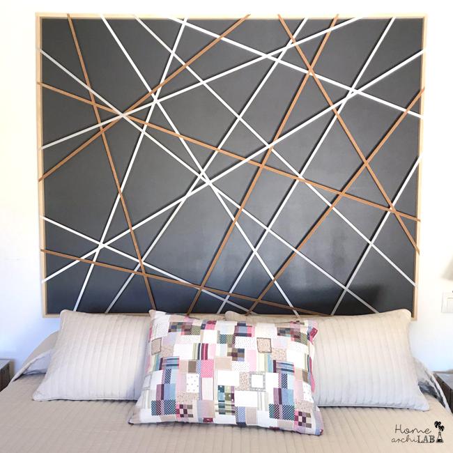 CABECERO Y MESILLAS ORIGINALES CON POCO PRESUPUESTO Puedes adaptarlo a tu propia decoración al ser totalmente personalizable