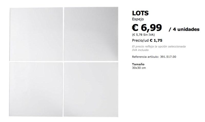 espejos Lots Ikea