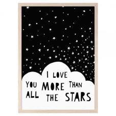 LAMINA I LOVE YOU MORE THAN ALL THE STARS