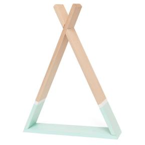 Estanteria de madera Tipi mint