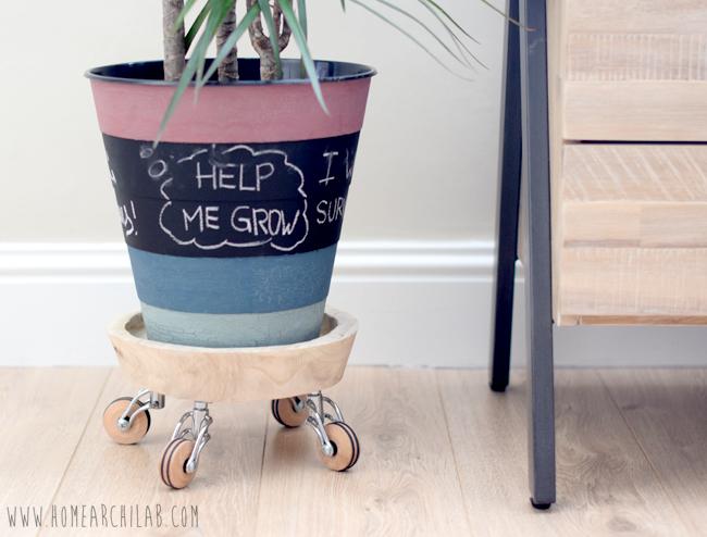 SOPORTE PARA MACETAS CON RUEDAS DIY Fácil, barato y práctico DIY para mover tus plantas más grandes