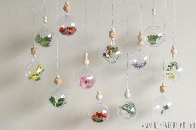Adornos De Navidad Caseros Con Plantas Home Archilab - Bolas-de-navidad-transparentes