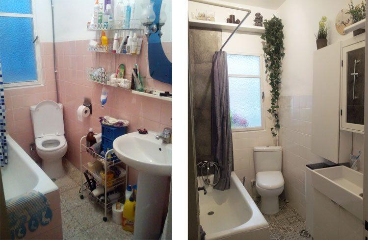 antes y después de un baño sin obras