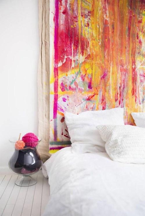 ideas para la pared del dormitorio