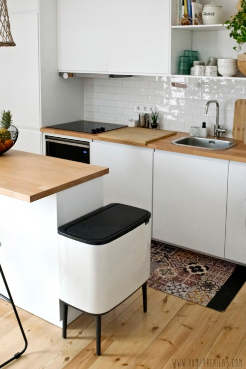 salon con cocina abierta