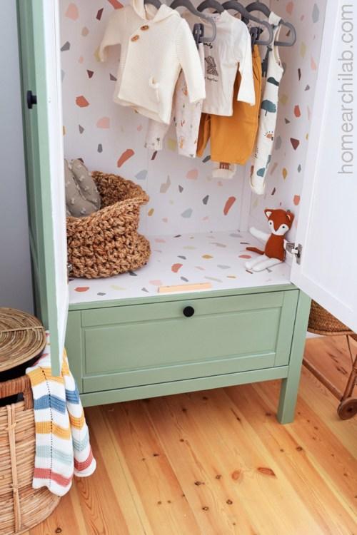 armario vintage habitación infantil diy
