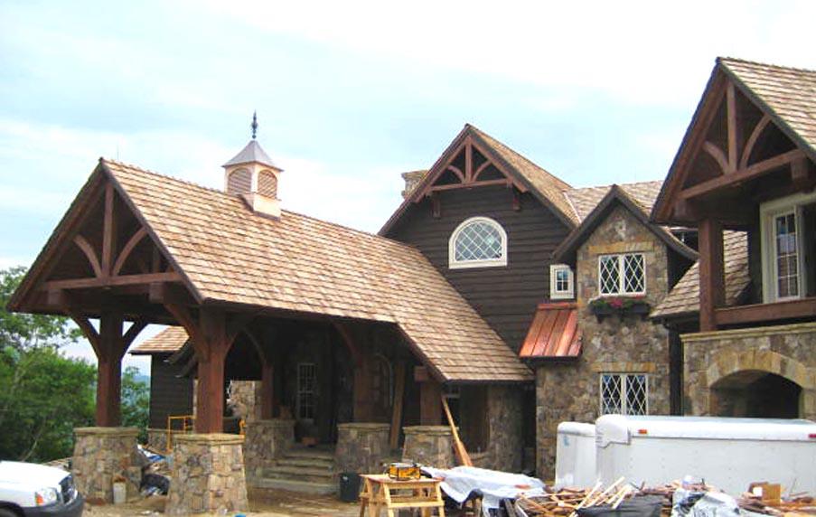 Mountain House 2 Highlands NC Timber Frame Design