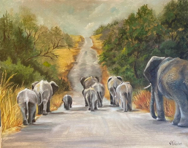 Elephants Walk – Oil Painting Tutorial