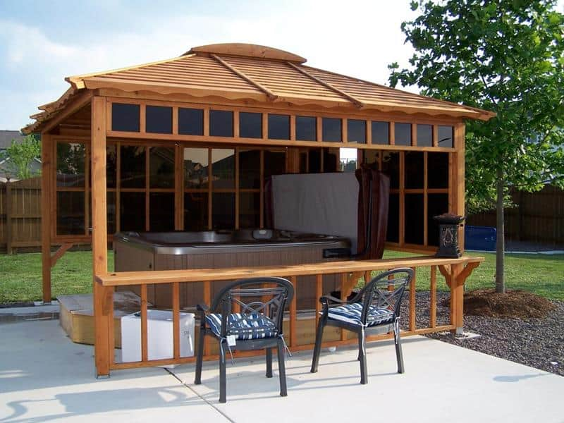 15 Hot Tub Gazebo Designs And Ideas