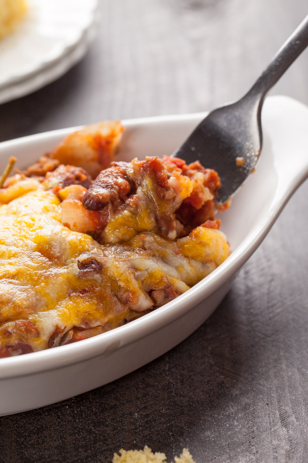 Oven Baked Chili and Corn Bread