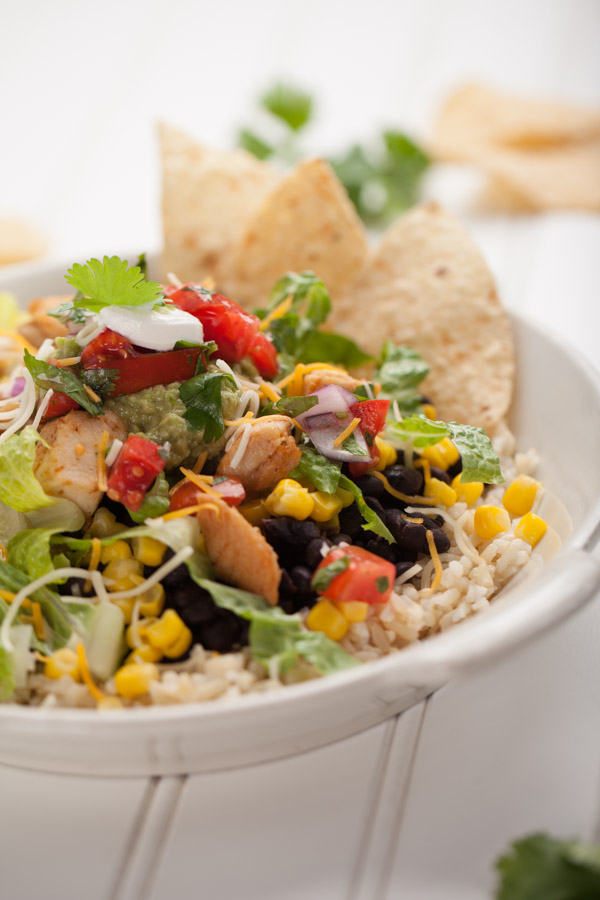Chicken taco salad supreme