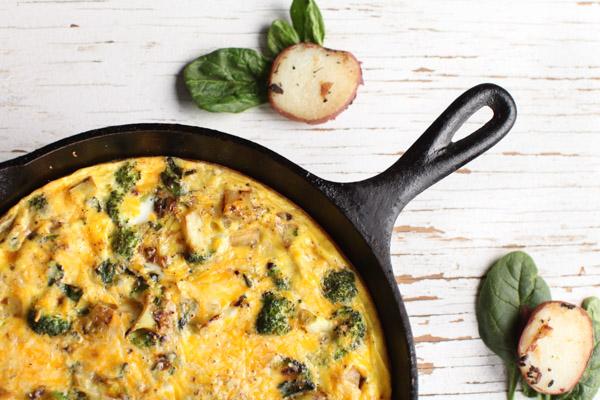 Egg, Broccoli, Potato Skillet