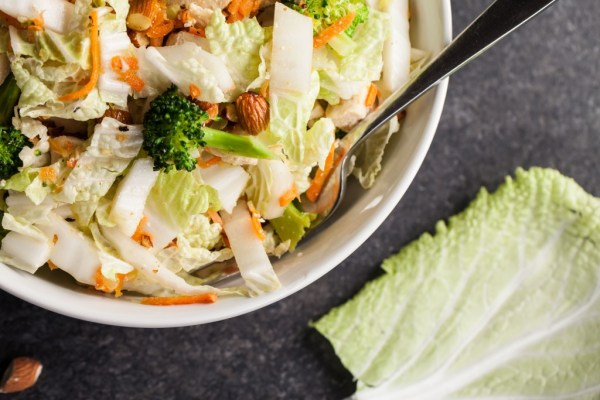 Asian Napa Cabbage Salad - great blend of sesame, napa cabbage, chicken and vegetables!vv