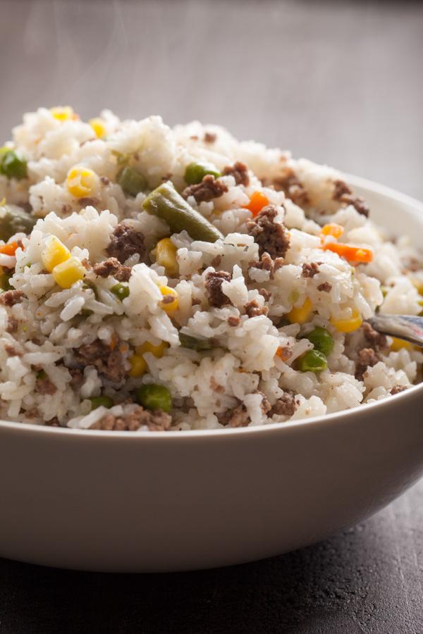 One Pot Hamburger Fried Rice