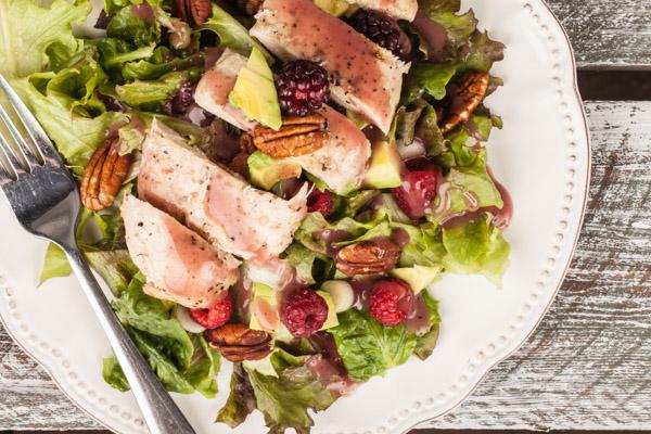 Raspberry Pecan Avocado Chicken Salad