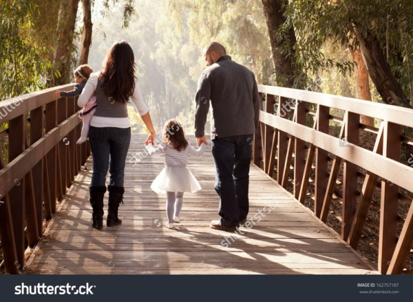 Happy Family Walking Away on a Bridge - Income Report