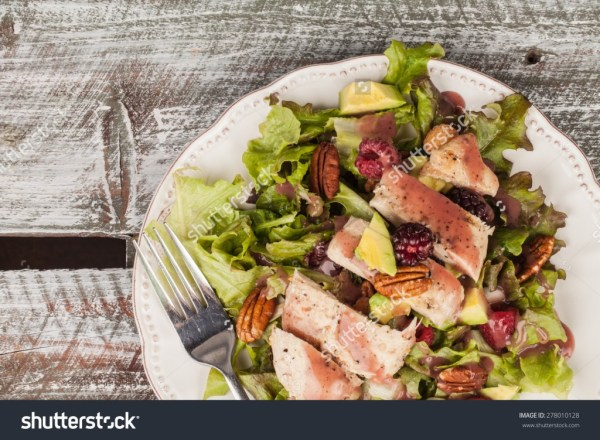 lettuce, grilled chicken, avocado, raspberry, pecan salad - income report