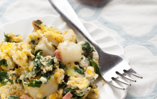 Potato Spinach Egg Scrambler
