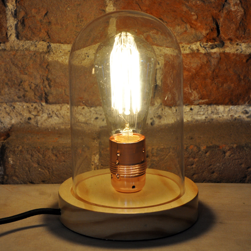 Industrial-Style-Glass-Dome-Lamp-