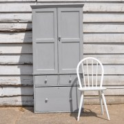 homebarn Antique linen cupboard with drawers