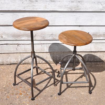 industrial-stool-wooden-top