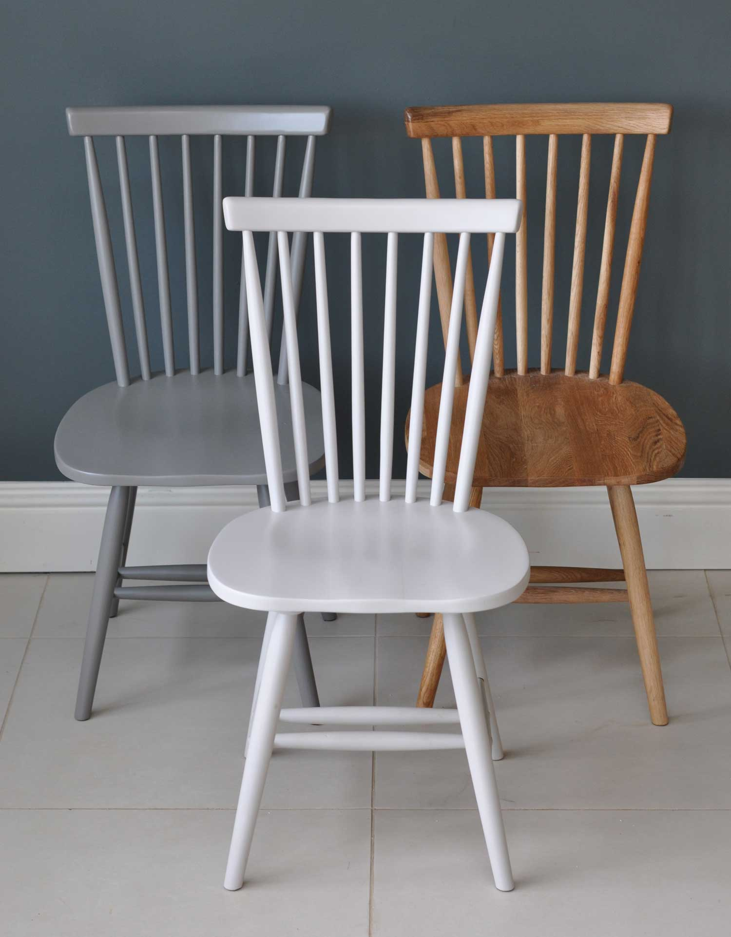 Painted or Oak Spindle Back Dining Chair