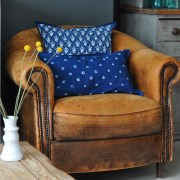 homebarn-indigo-square-pillow