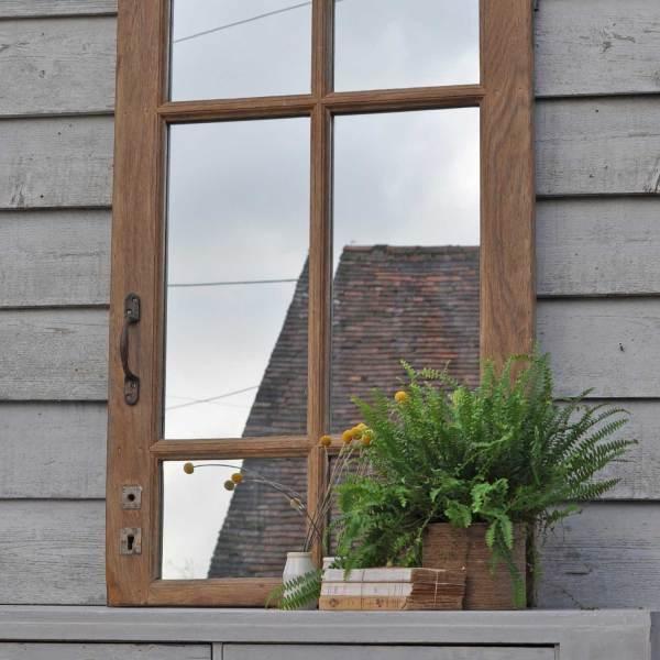 Reclaimed Vintage Oak Window Mirror