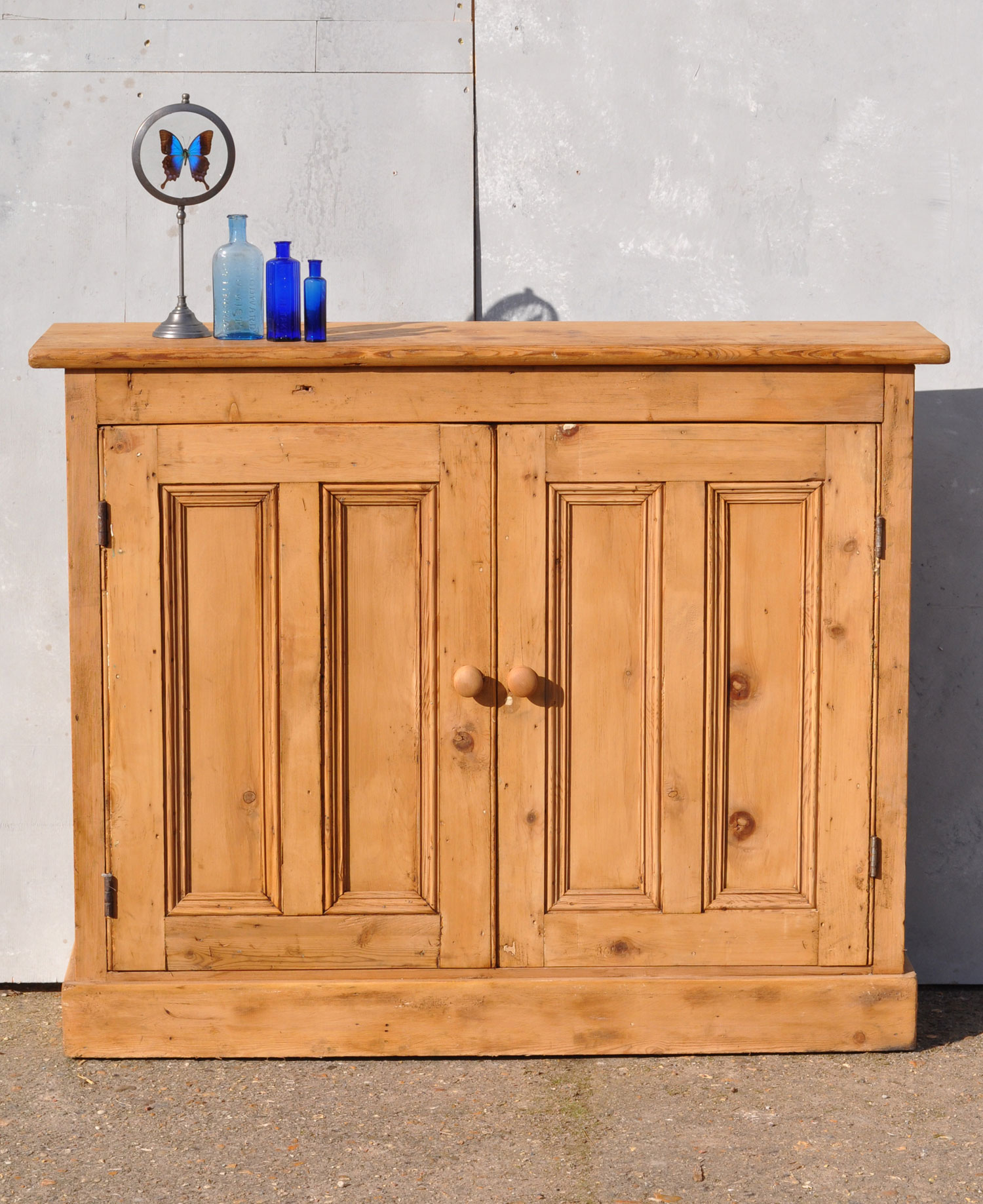Reclaimed Pine Two Door Console Cabinet
