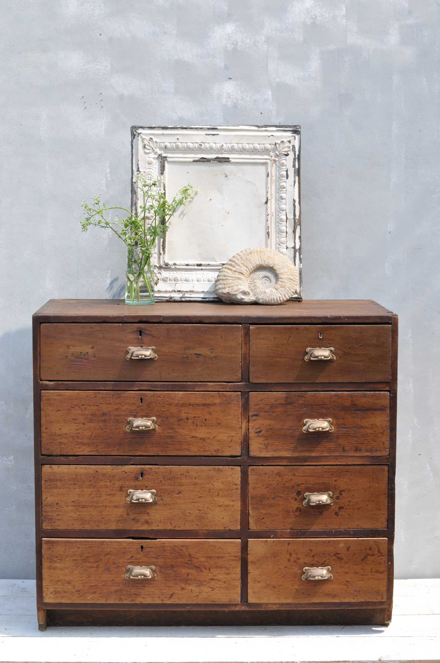 Antique Bank Tellers Chest of Drawers