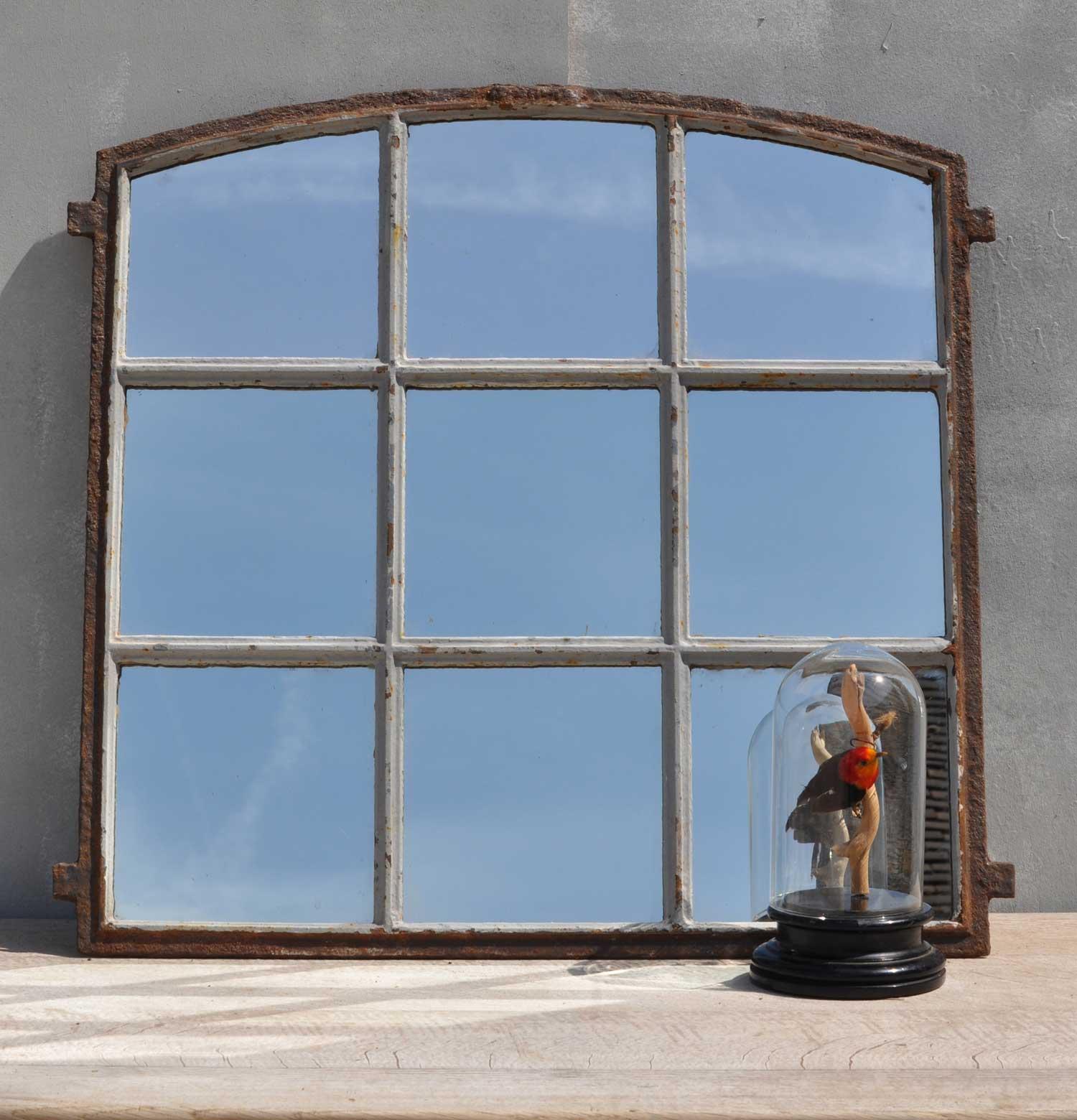 Industrial Cast Iron Factory Window Mirror
