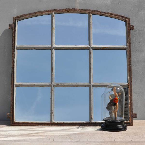 Industrial Cast Iron Factory Window Mirror