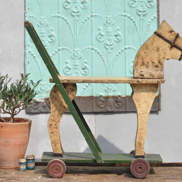 Victorian Push Along Horse Toy -
