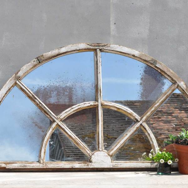 Vintage Half Light Window Mirror