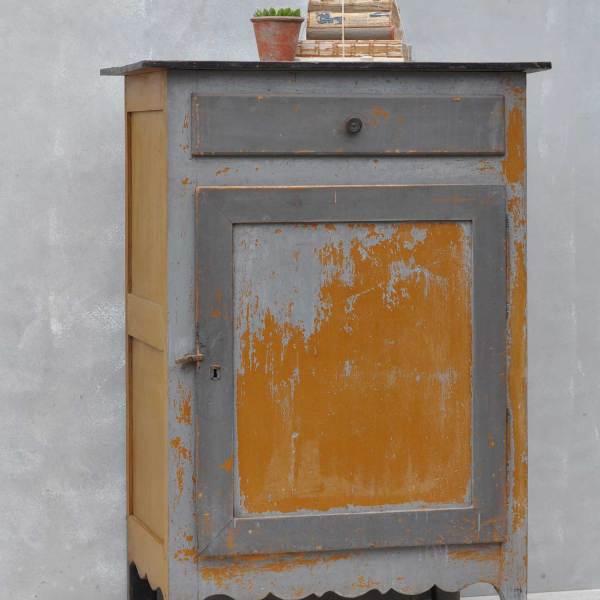 Antique Vitrine Large Single Door Cupboard