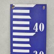 Dutch Port Rustic Blue Water Level Marker