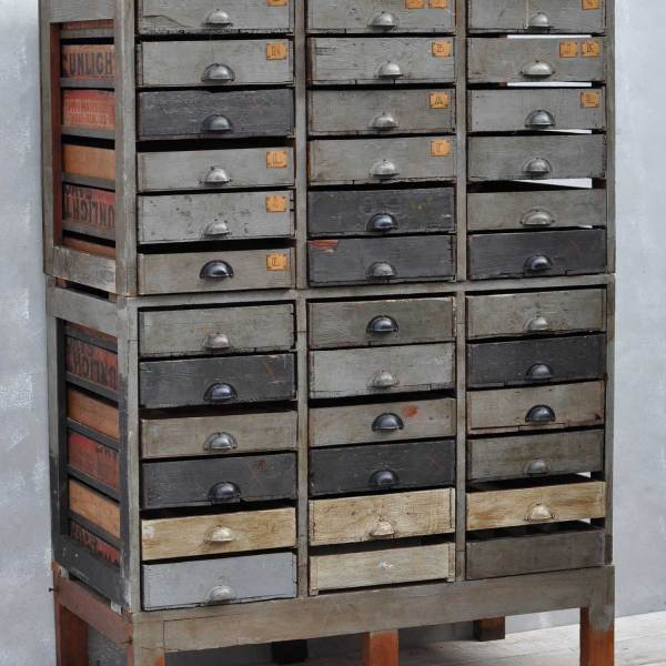 Vintage Rustic Unique Crate Multidrawer
