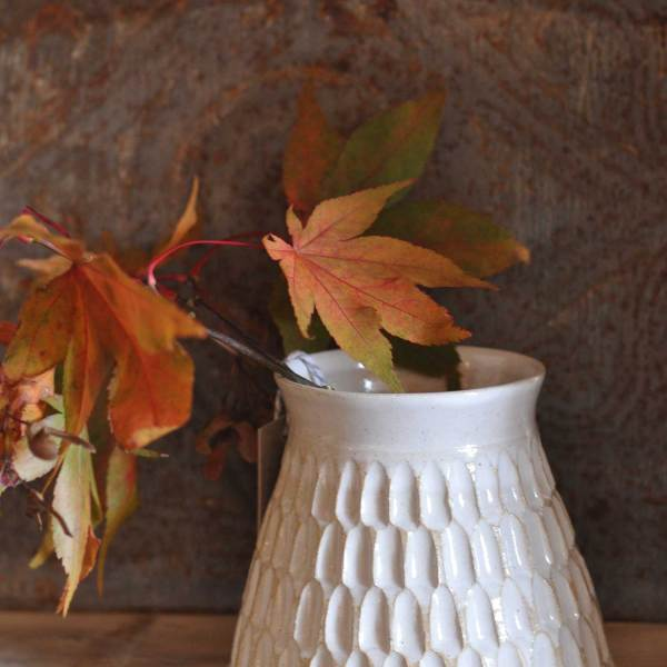 Hand thrown mini planter pot by Hilda Carr