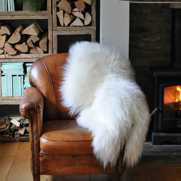 Large Long Coat Icelandic Sheepskin Throw Rug