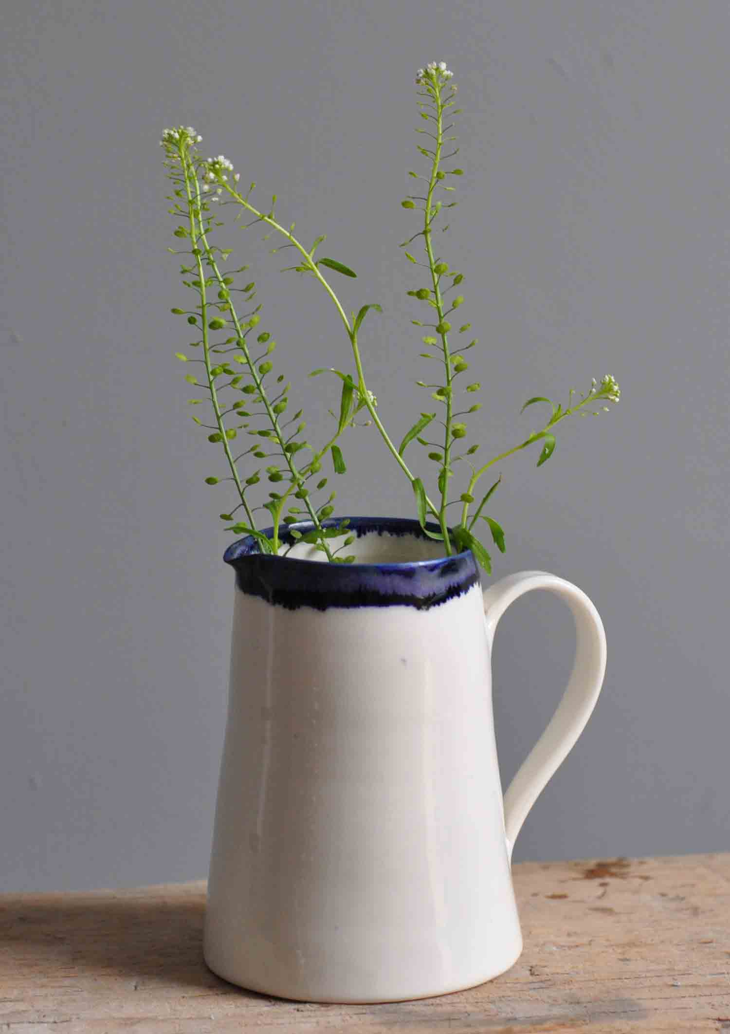 Hand Thrown Porcelain Jug Small By Edit Juhasz