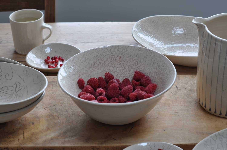 Wonki Ware Hand Made Artisan Stoneware Noodle Bowl