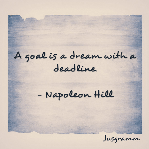 Image result for a goal is a dream with a deadline